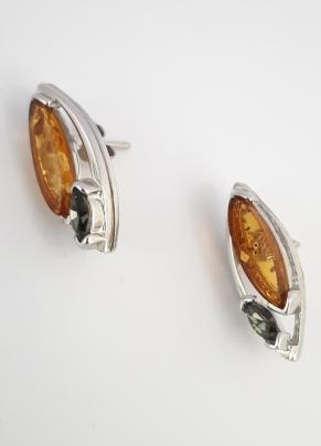 Дамски сребърни обеци-75