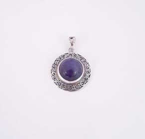 Дамски сребърен медальон -13