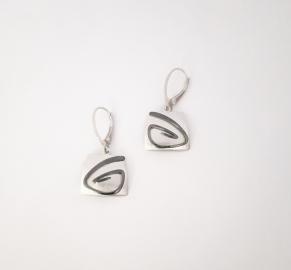 Дамски сребърни обеци-118