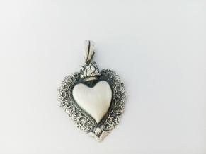 Дамски сребърен медальон-2